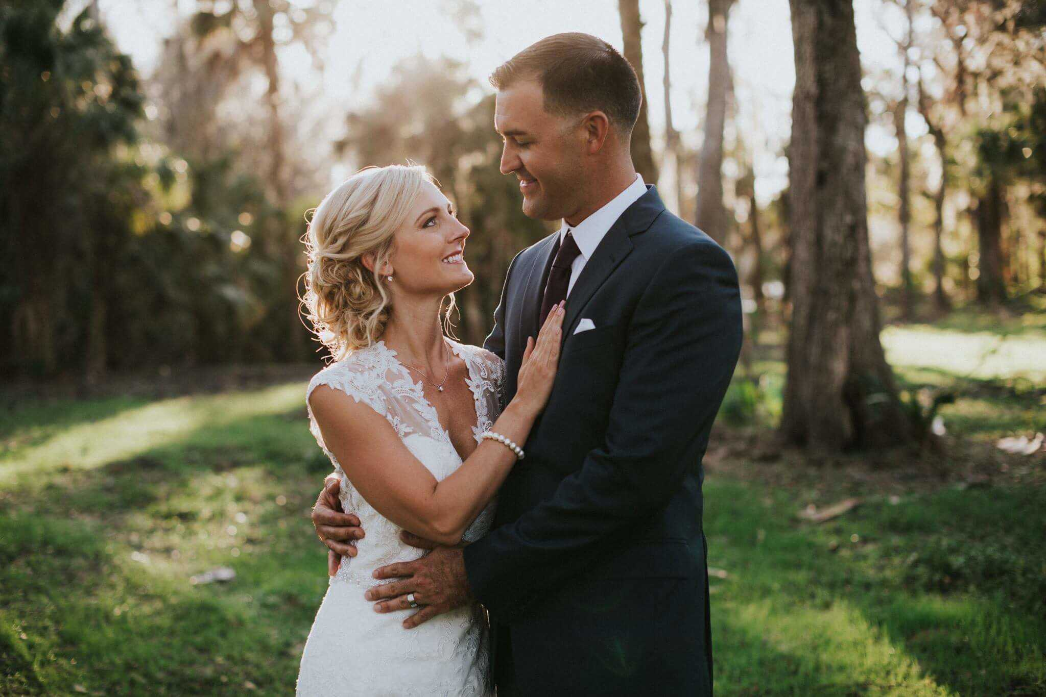 Bride and Groom Brandon Florida wedding