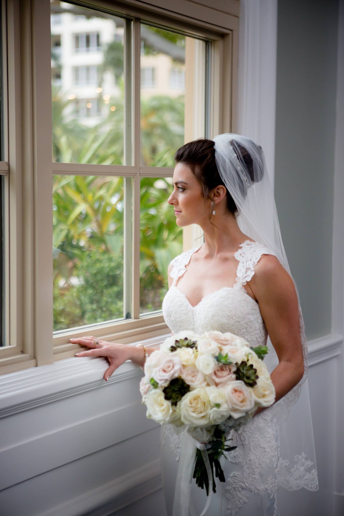 Bride at Ritz carlton